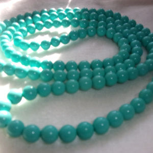 Jewelry - Vintage retro 1980s bead necklace Tiffany blue
